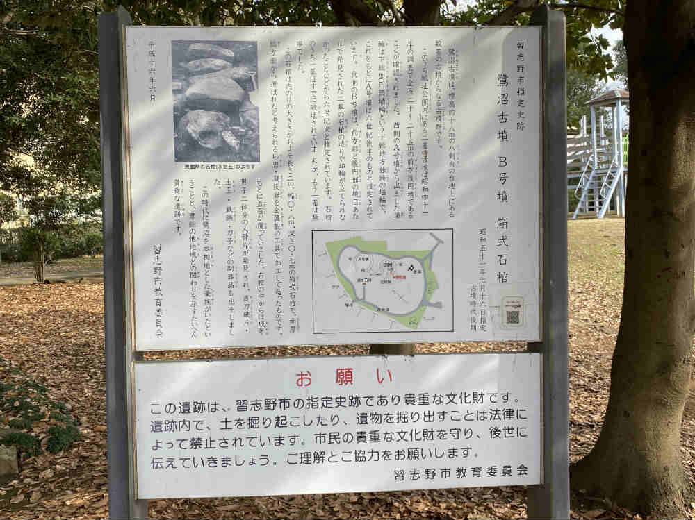 城址公園の看板